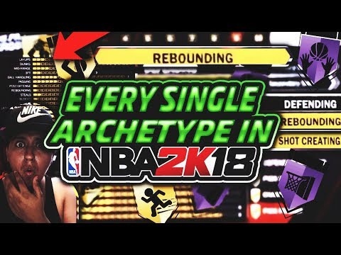 EVERY SINGLE ARCHETYPE IN NBA 2K18 STATS BREAKDOWN | ALL BADGES | SHOWING WHICH IS THE BEST