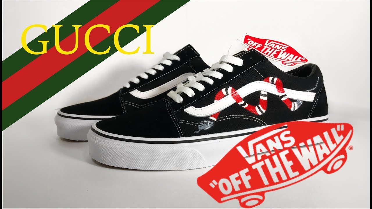 c9e86d3668a Custom Gucci x Vans!!! - YouTube