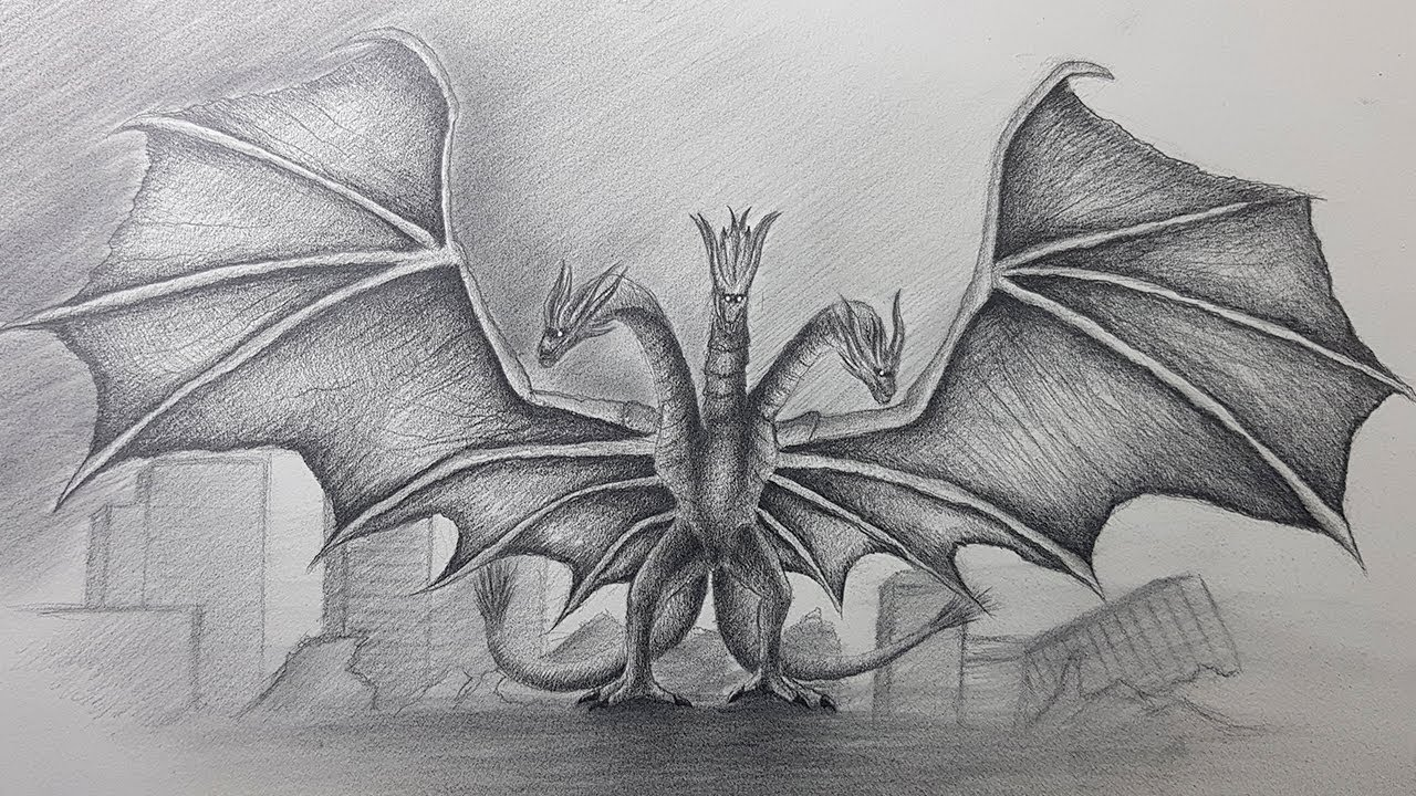 Dibujo De King Ghidorah Godzilla King Of The Monsters 2019 Youtube