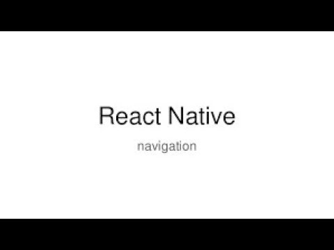 React-Native tutorial # 36 disable back button in navigation
