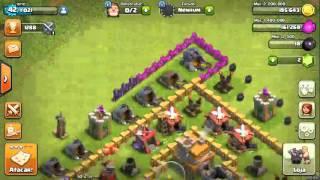 Clash of clans-ataque de gigantes e curanderas