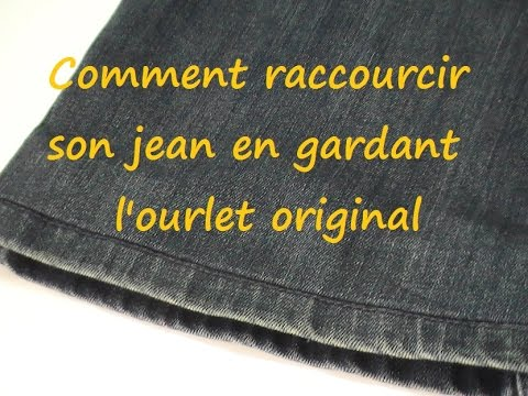astuce couture comment raccourcir son jean en gardant l 39 ourlet original youtube. Black Bedroom Furniture Sets. Home Design Ideas