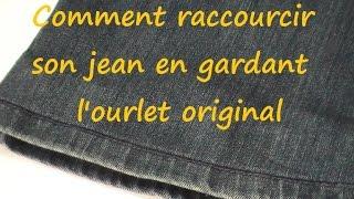 Petite astuce qui vous permettra de raccourcir vos jean sans devoir couper l'ourlet original.