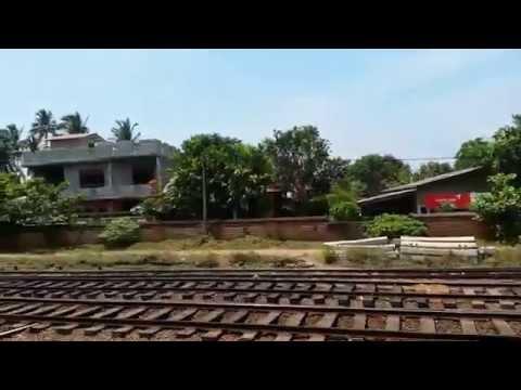Train journey from Colombo to Beruwala, Sri Lanka