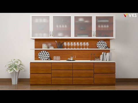 Modern CROCKERY DINING UNIT Shelves Designs | Kitchen Crockery Unit Designs |Dining Showcase Cabinet