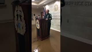 FlaglerLive (FCSO) | Sheriff Staly Press Conference on Cummings Arrest