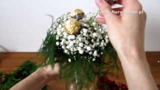Jak zrobić bukiet z kwiatów i cukierk�...