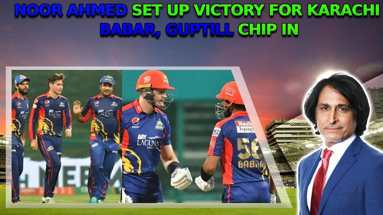 Noor Ahmed set up victory for Karachi | Babar, Guptill chip in