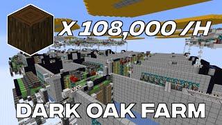 [420k] Crazy Dark Oak Tree Farm (108,000 logs per hour)