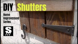 How To Make DIY Shutters - Home Improvement Woodworking Series