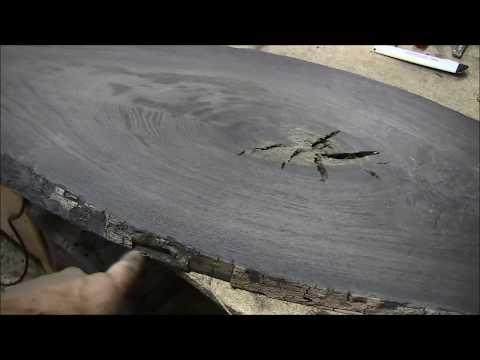 Изготовление кофейного столика из мореного дуба.
