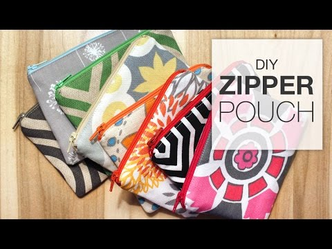 Diy Zipper Pouch Sewing Tutorial Youtube