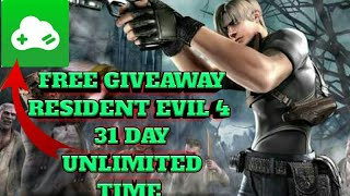 Giveaway Resident Evil 4 free gloud game on Android 31day unlimited time pc/ps4/xbox