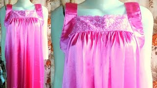 How to make a Nighty | Nighty drafting, cutting and stitching step by step tutorial