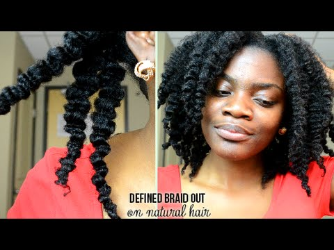 Defined Braid Out Tutorial On Natural Hair Youtube