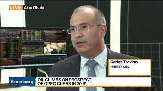 Pemex CEO on Oil Production, Oil Prices, Ratings Downgrade, M&A