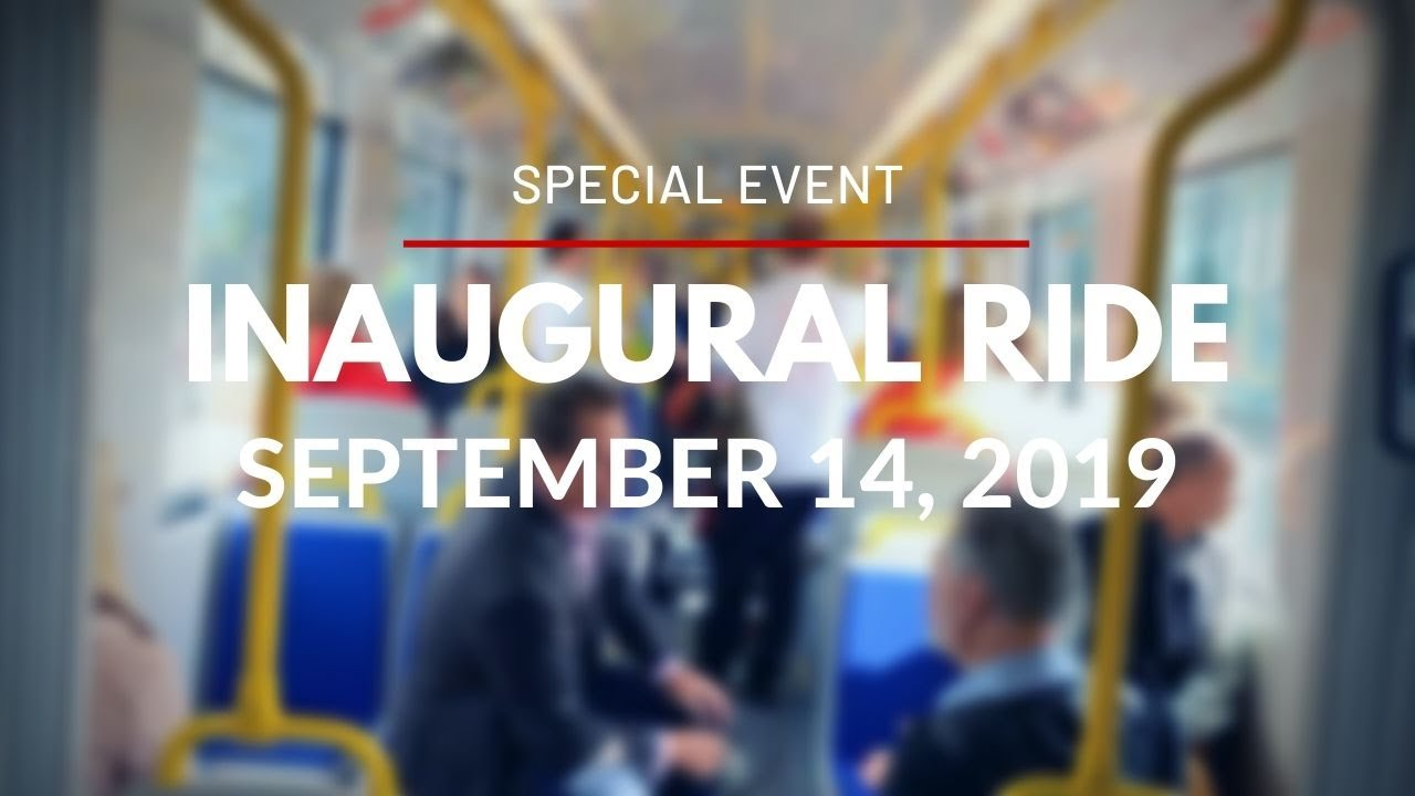 O-Train Line 1 - Confederation Line - Inaugural Ride - September 14, 2019