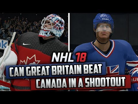 Can Great Britain Beat Canada in a Shootout on Superstar Difficulty? (NHL 18 Challenge)