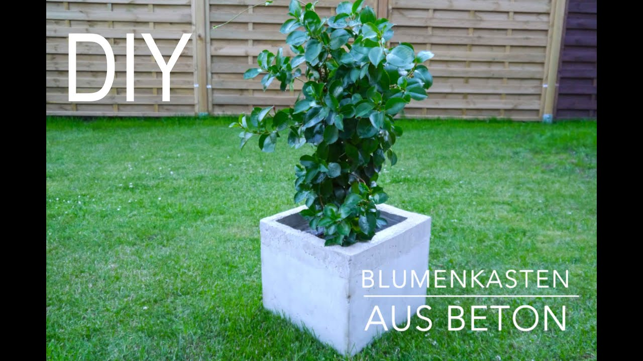 diy blumenkasten aus beton anleitung youtube. Black Bedroom Furniture Sets. Home Design Ideas