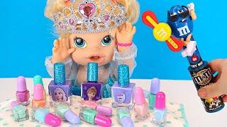 Маникюр для Девочек Как Мама Красила Ногти Нюше Мультики Куклы Пупсики 108мама тв