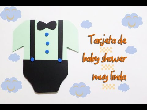 61912473ab2be Como hacer invitación de baby shower - YouTube
