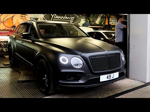Bentley Bentayga First Edition wrapped in Satin Black