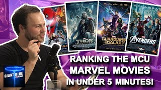 Ranking the MCU Marvel Movies Worst to Best in Under 5 Minutes!