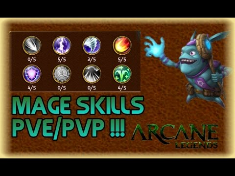 Arcane Legends - Mage Skills For PvP/PvE Lv-46