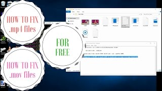 How to fix a mp4 or mov file for free