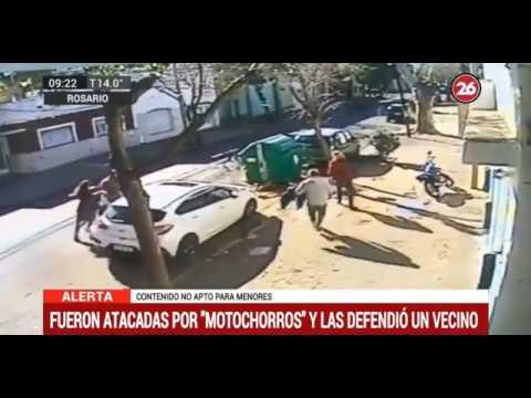 Vecino defiende a mujeres del ataque de un motochorro