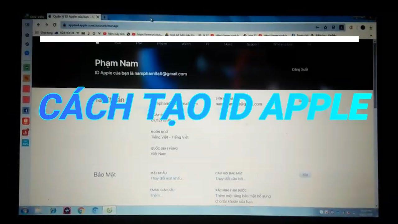 Cách Tạo ID APPLE Của IPHONE Trên Máy Tính Dễ Dàng.