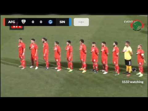 Afghanistan 2 : 1 Singapore. full time. Radio AWA Afghanistan