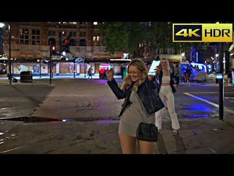 London at 2 am in August- 2021| The city that never sleeps | London Night Walk [4K HDR]