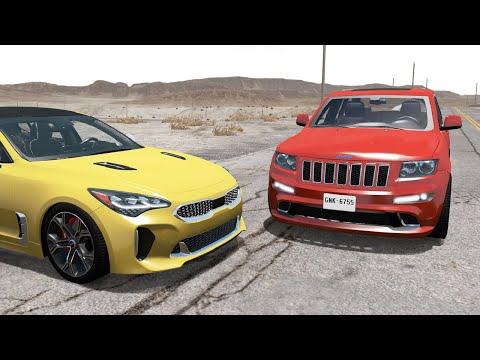 Realistic Car Crashes 19 - BeamNG Drive