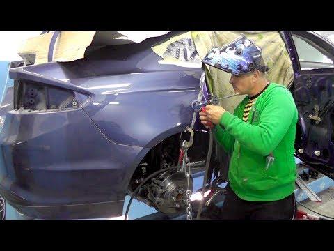 Ford Fusion Hybrid.  Подгонка части крыла. Сварочные работы. ГРИБЫ🍄😀