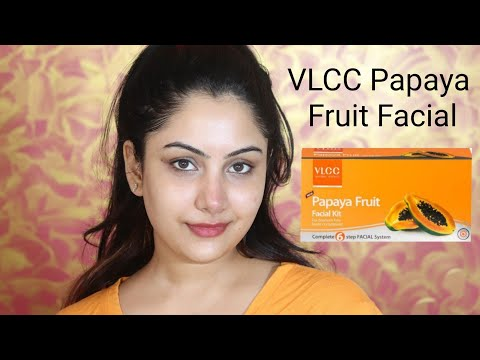 VLCC Papaya Fruit Facial Step By Step Review | Anusha Beauty