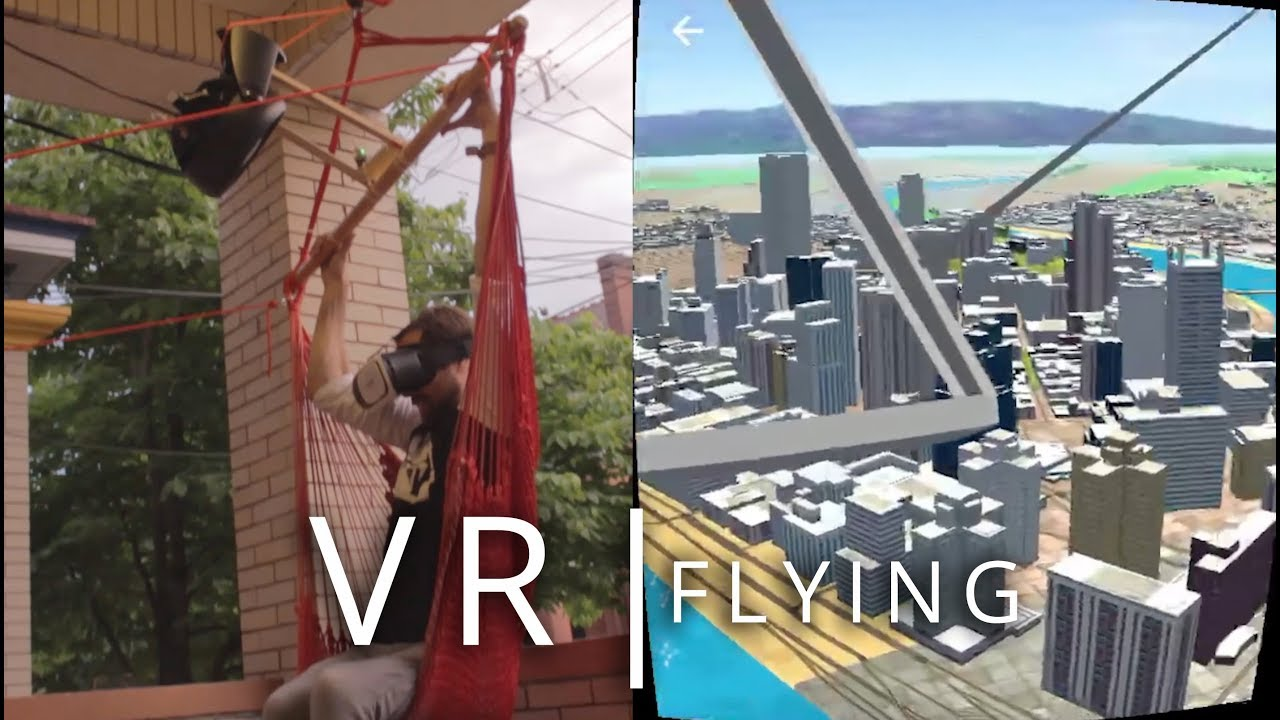 VR Hang Glider using a Hammock – and #Arduino, WRLD SDK in