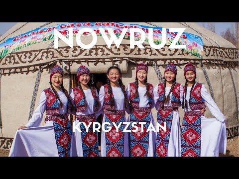 How is Nowruz celebrated in Kyrgyzstan?