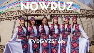 How is Nowruz celebrated in Kyrgyzstan?