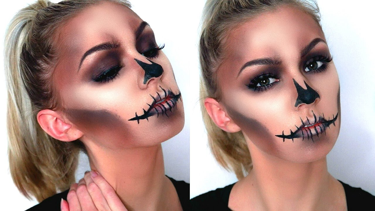 EASY GLAM SKULL | Halloween Makeup Tutorial - YouTube