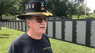 Video: Vietnam veteran visits traveling Vietnam Wall