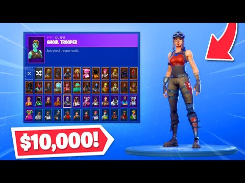 My $10,000 SKIN COLLECTION In Fortnite! (99% COMPLETE)