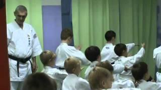 Sanchin kata kids Shohei Ryu / Uechi Ryu kei Russia