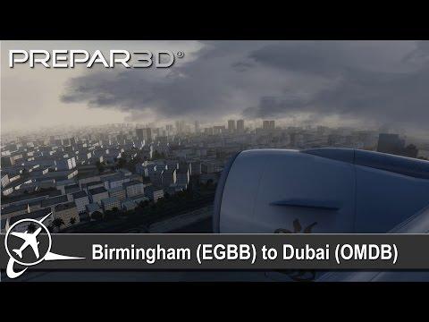 [P3D v3.4] Birmingham (EGBB) ✈ Dubai (OMDB) | PMDG 777-200 | Emirates UAE38