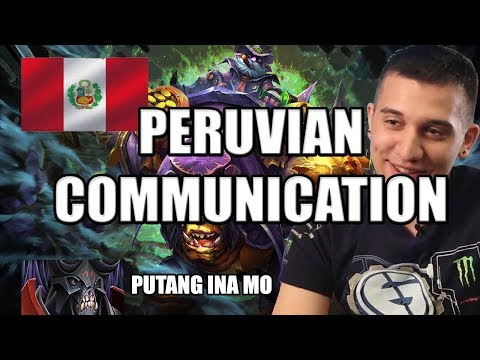 Dota 2: Arteezy - Peruvian Communication | Defending Against a Death Ball