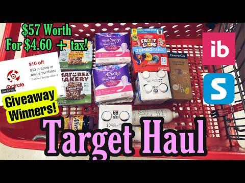 Target Haul 7/18-24/21 Giveaway Winners & Ibotta Deals!
