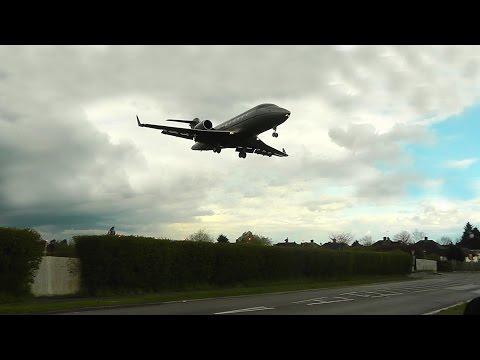 VistaJet - Bombardier Challenger 605 landing at RAF Northolt