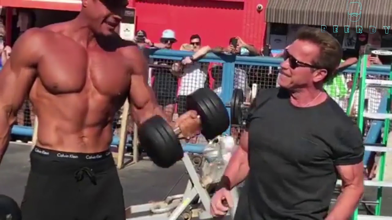 70 year old arnold schwarzenegger goes back to muscle beach youtube 70 year old arnold schwarzenegger goes back to muscle beach malvernweather Gallery