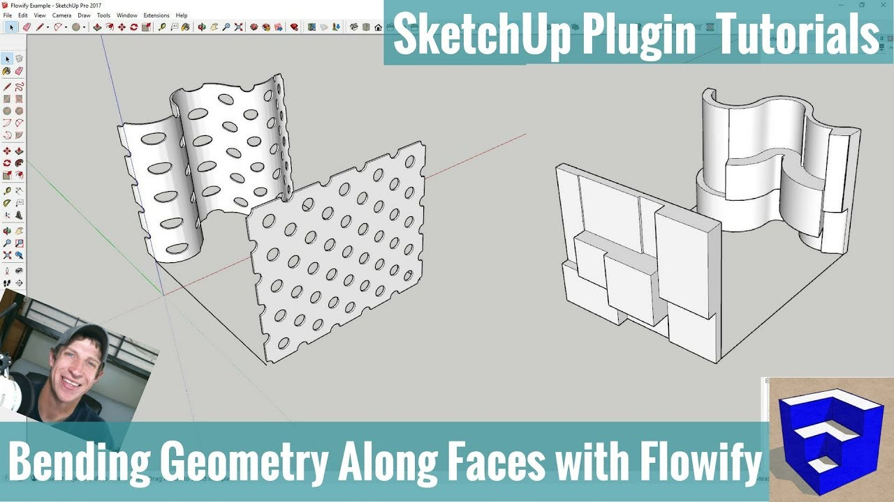 Bend Objects Along Complex Faces with Flowify for SketchUp - The