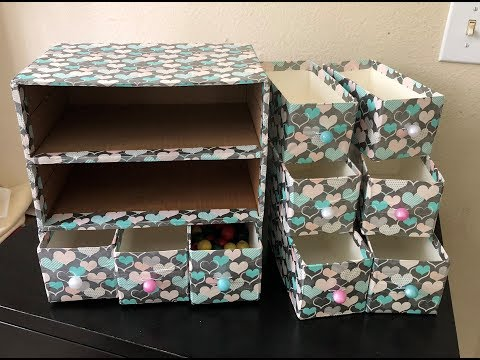 Recycle Milk carton ( Drawer) DIY